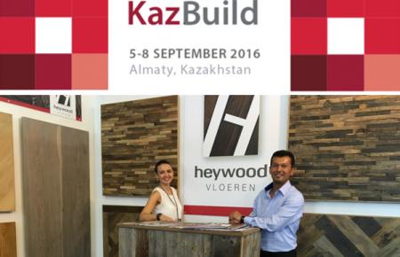 Heywood at 'Kazbuild Exhibition' in Almaty, Kazachstan