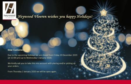 Heywood Vloeren wishes you happy Holidays!
