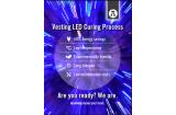 Vesting LED curing oil