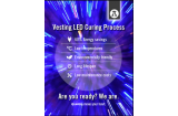 Vesting LED curing oil