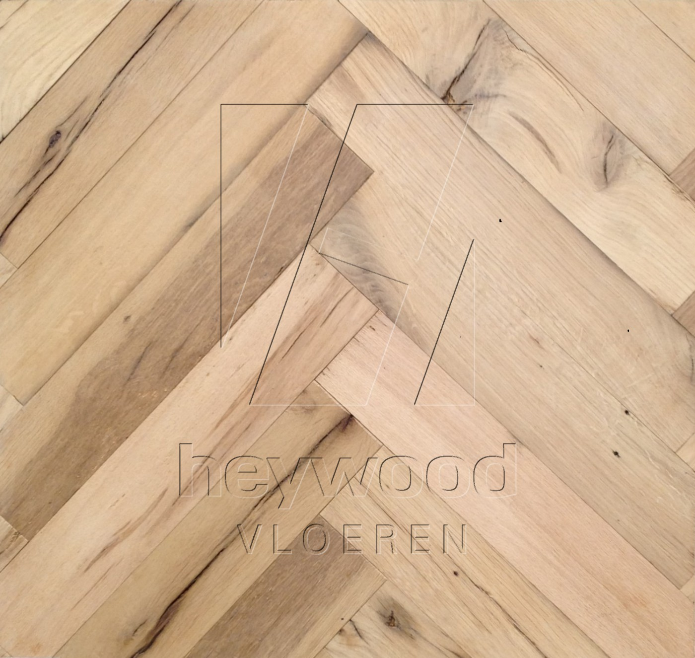 Stellenbosch (unoiled) Reclaimed Oak in Herringbone of Pattern & Panel Floors