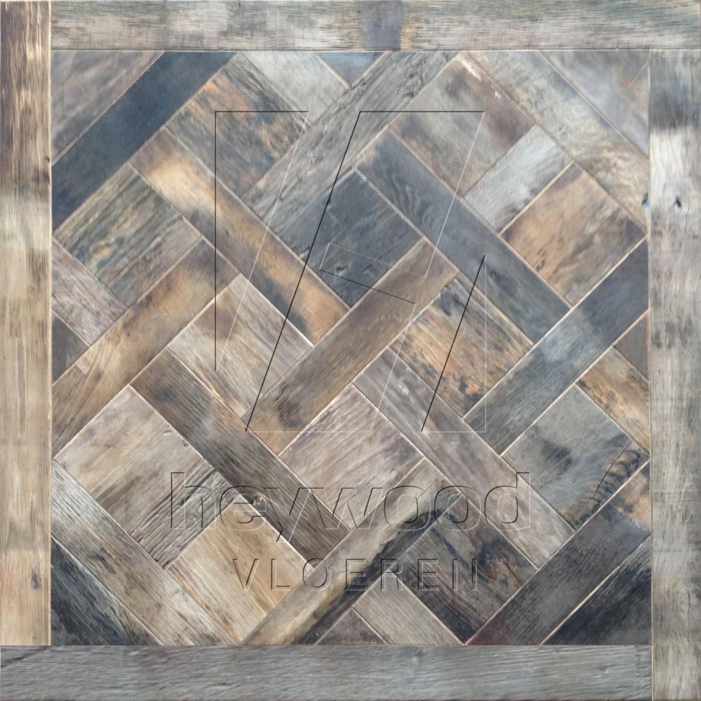 Bordeaux Reclaimed Oak in Floor & Wall Panels of Pattern & Panel Floors