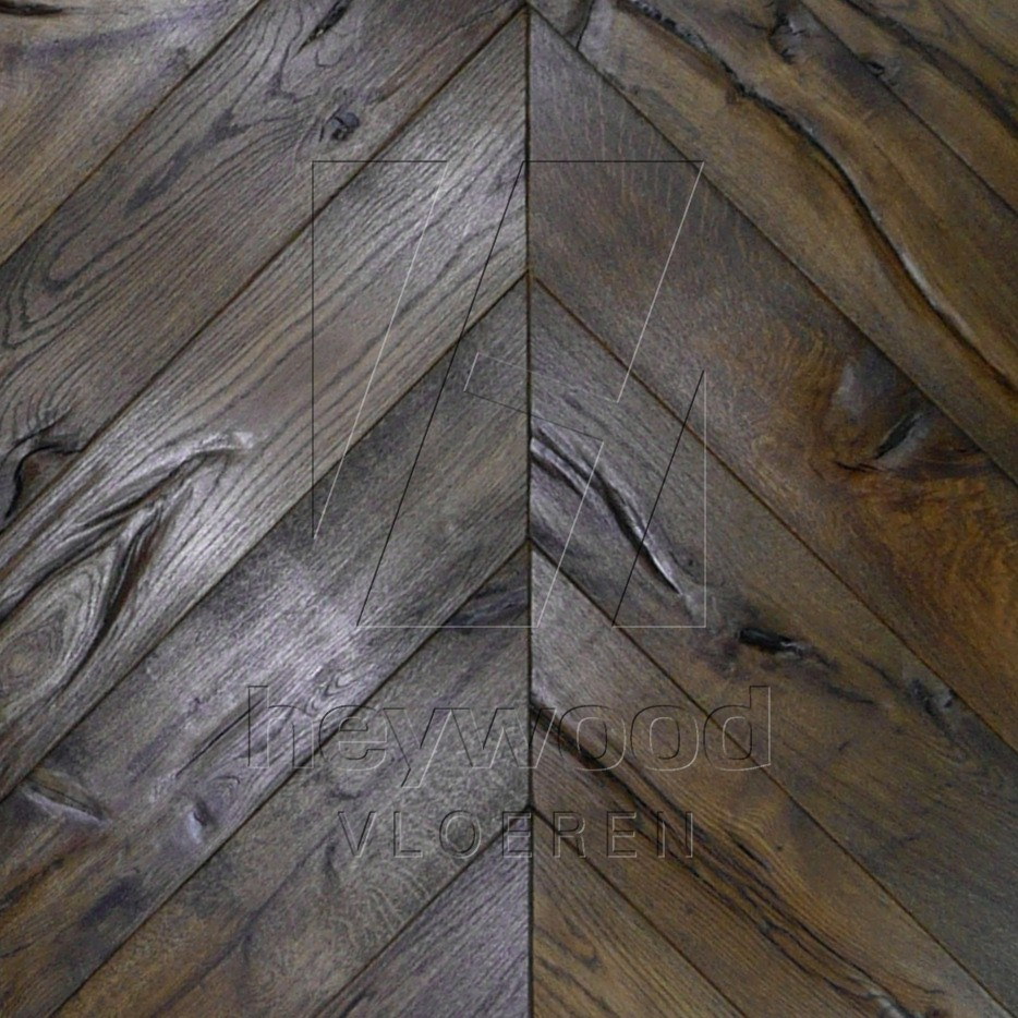 Antique Chevron Black Oiled in Chevron of Pattern & Panel Floors
