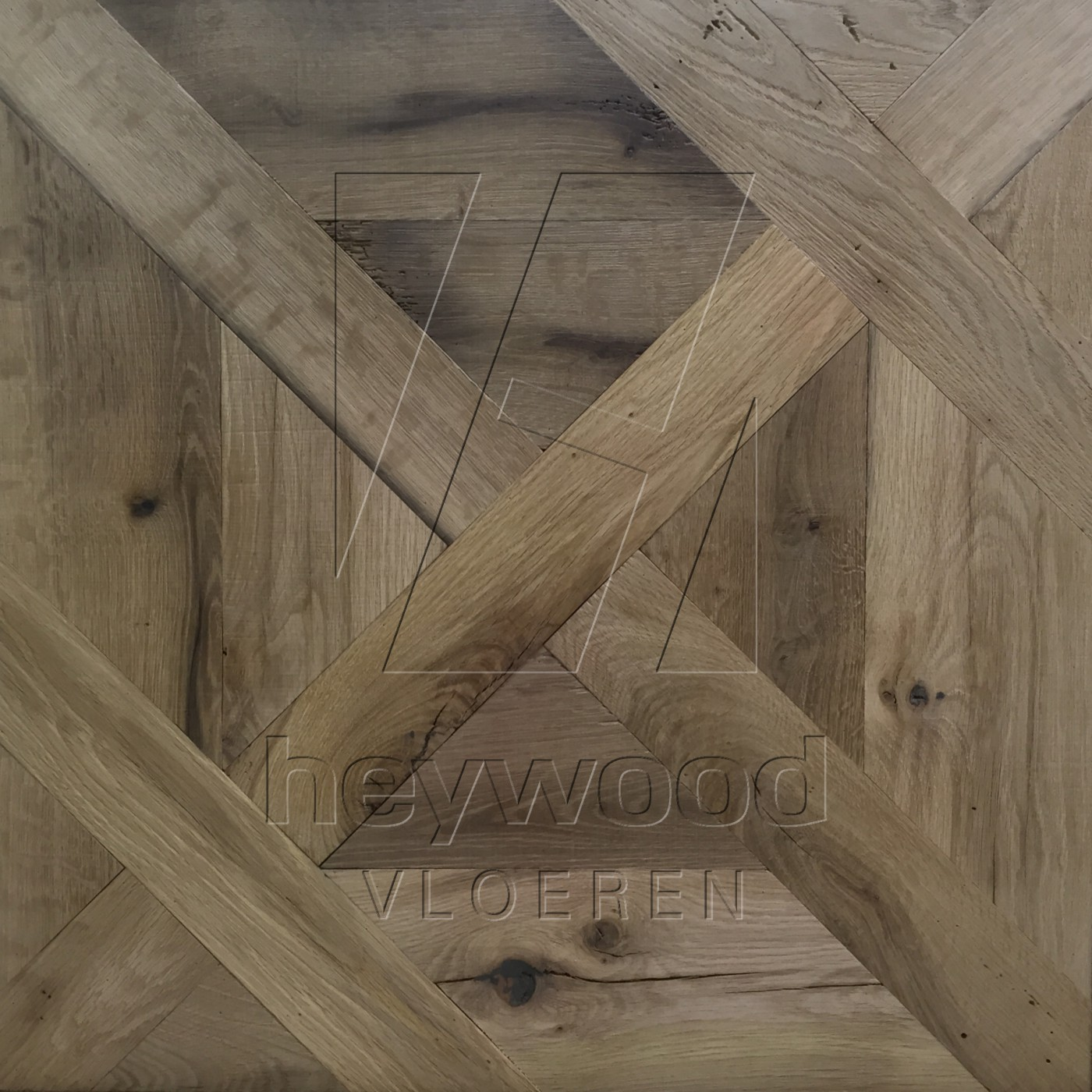 Provence (unfinished) Louvre Panel Reclaimed Oak in Floor Panels & 3D Wall Panels of Pattern & Panel Floors