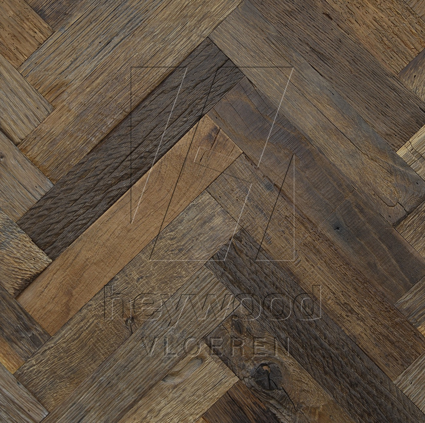 Cotswolds Reclaimed Oak in Herringbone of Pattern & Panel Floors