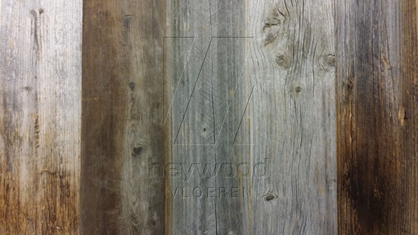 Appenines Barnwood Plank (mixed widths, 80 years old Spruce, Outside) in Plank OUTSIDES (authentic textured surface) of Old Reclaimed Wood