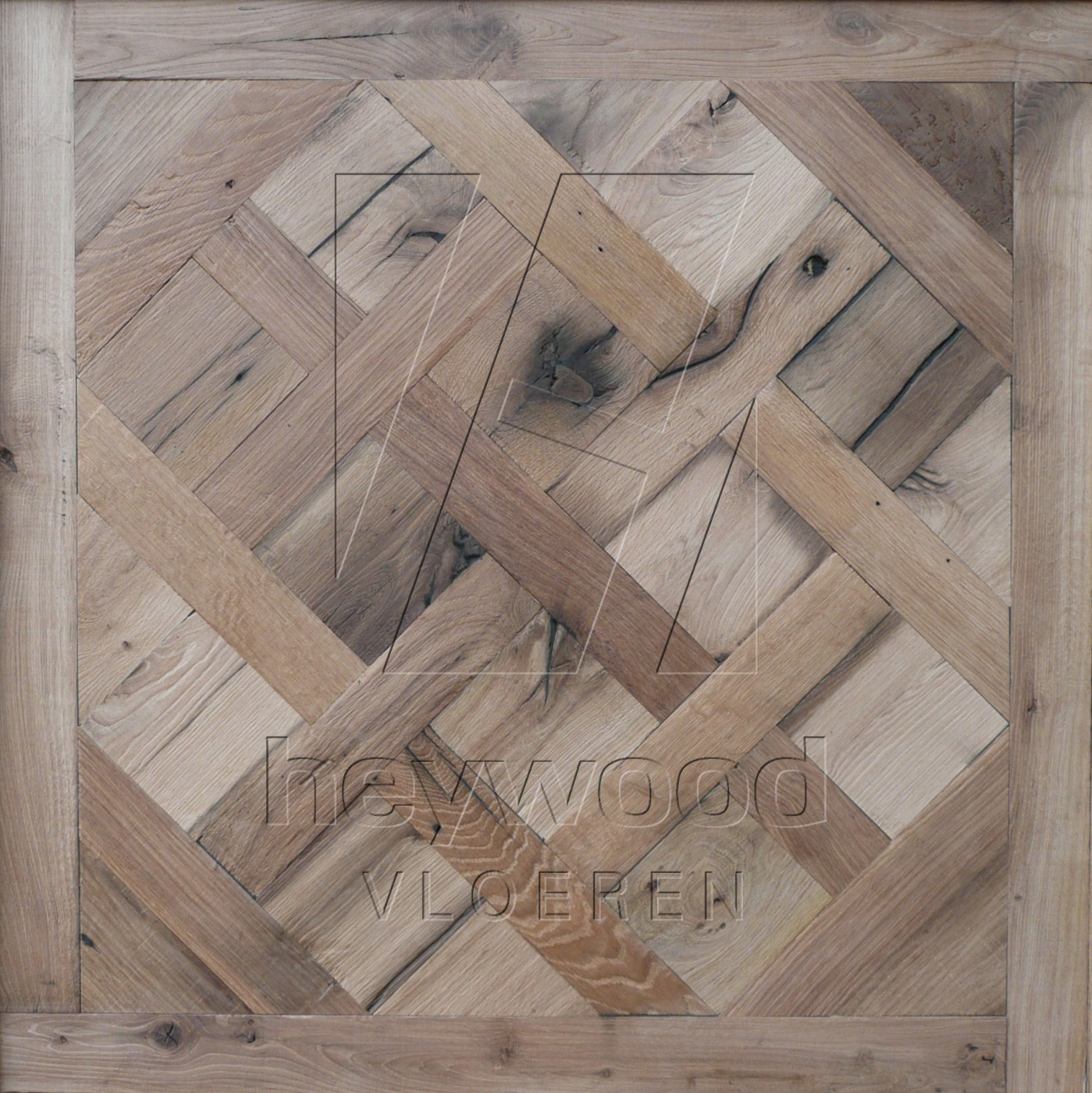 Provence (unfinished) Reclaimed Oak in Floor Panels & 3D Wall Panels of Pattern & Panel Floors