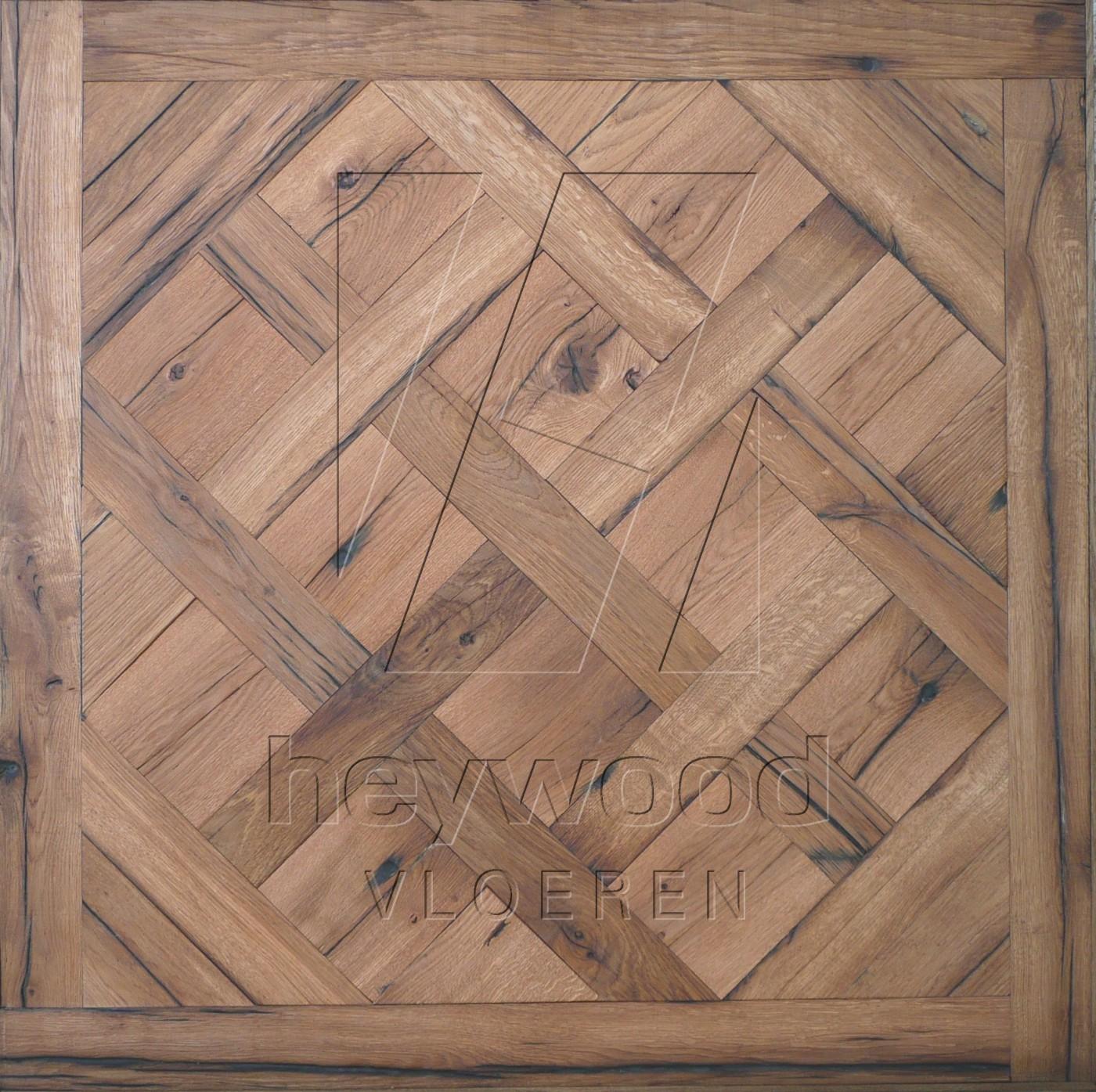 Stellenbosch (Floorservice oiled) Reclaimed Oak in Floor Panels & 3D Wall Panels of Pattern & Panel Floors