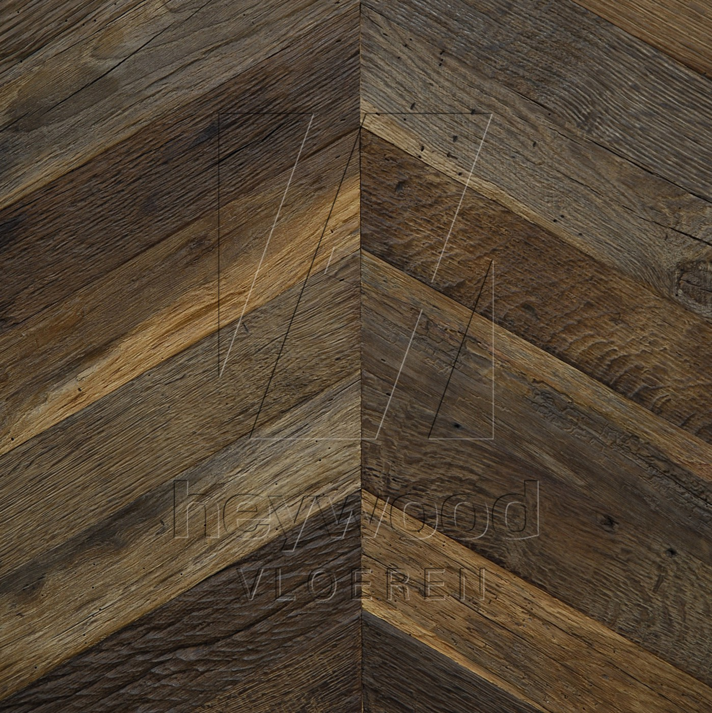 Cotswolds Reclaimed Oak in Chevron of Pattern & Panel Floors