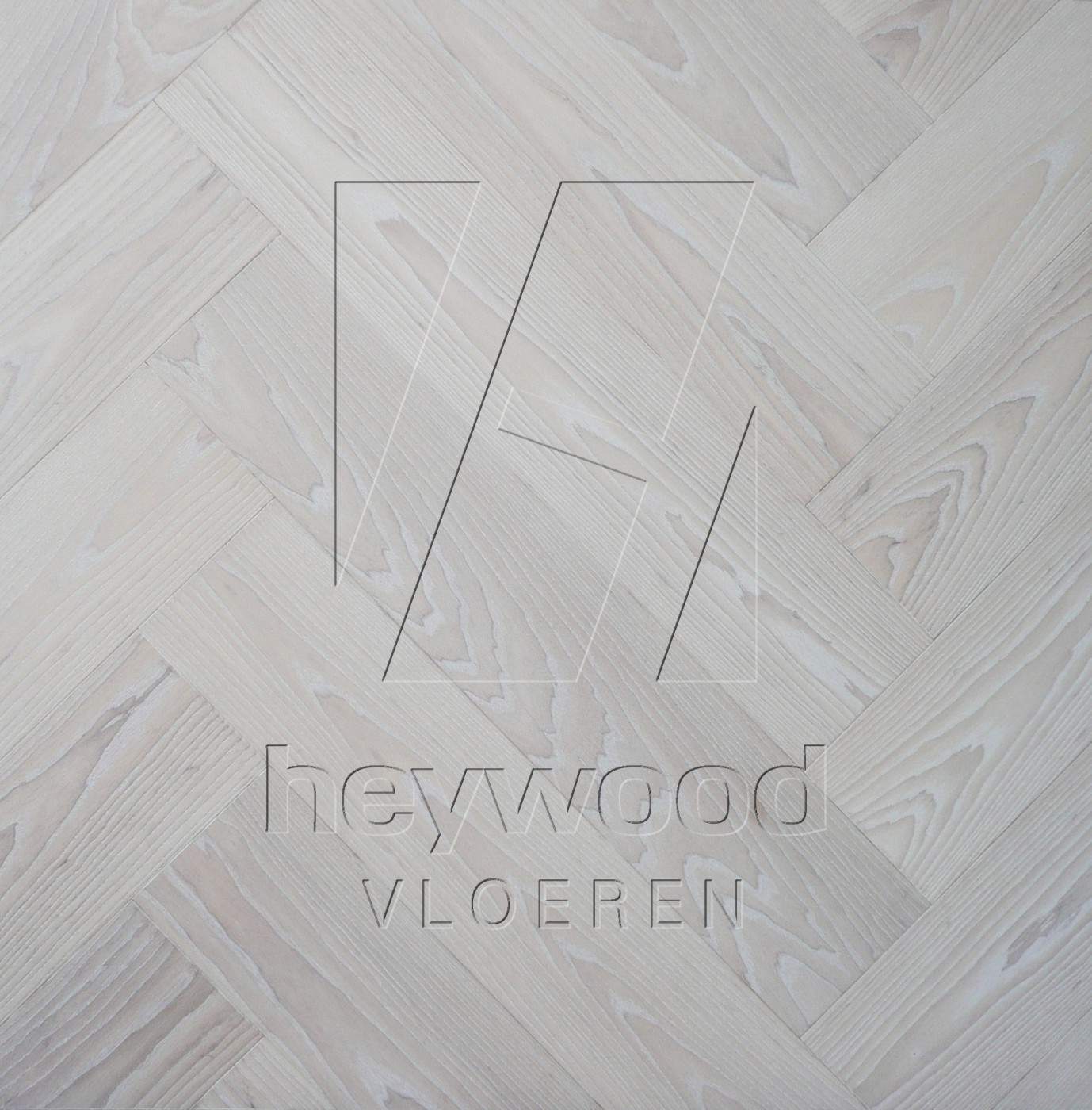'Glacier' Ash Herringbone, Bespoke Elegance in Herringbone of Pattern & Panel Floors