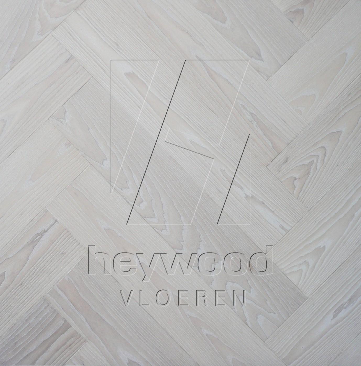 'Glacier' Ash Herringbone, Bespoke Elegance in Herringbone of Pattern & Panel Floors