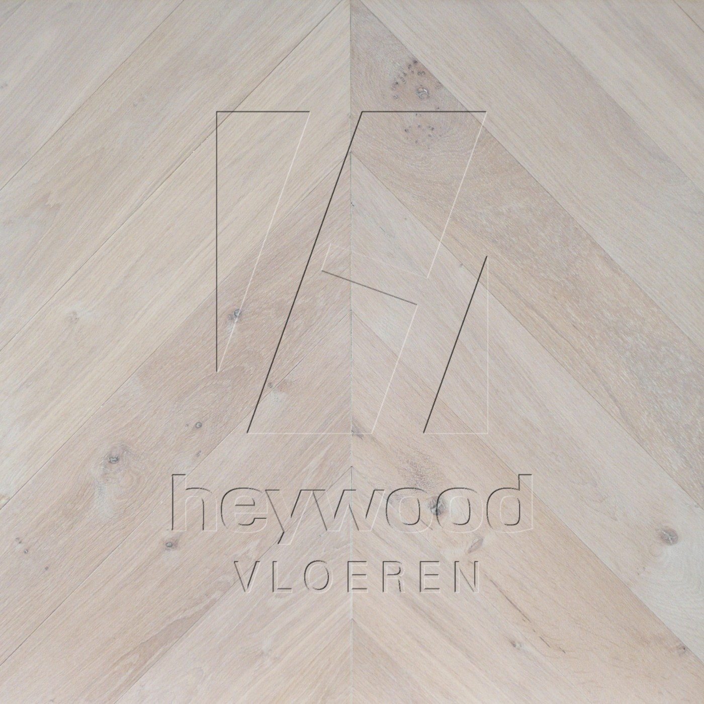 'Nordic White' Chevron 45°, Bespoke Character in Chevron of Pattern & Panel Floors