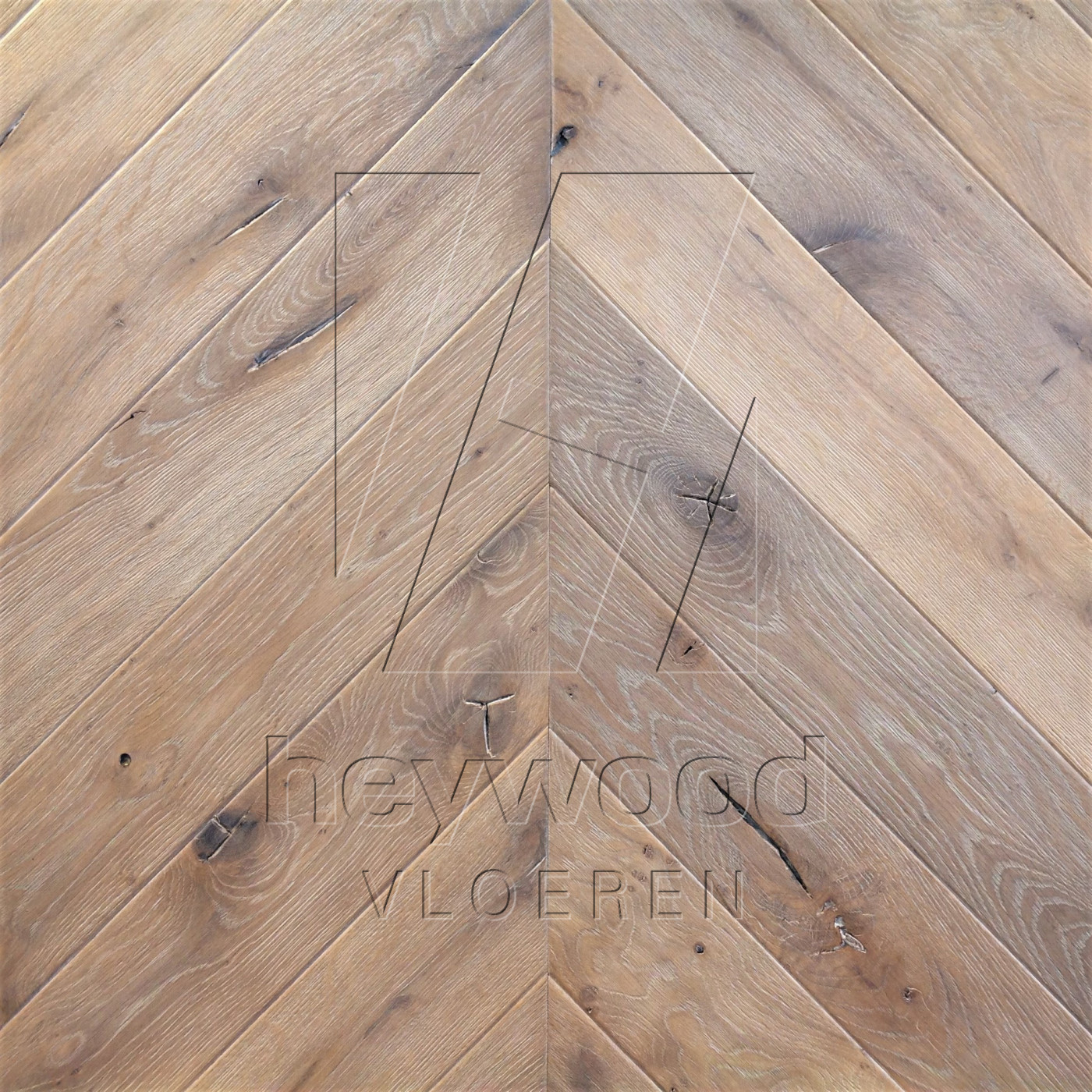 Antique Chevron 'Mont Blanc' in Chevron of Pattern & Panel Floors