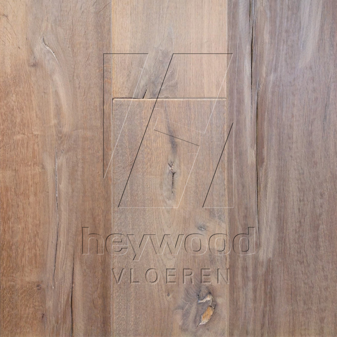 Antique Plank 'McKinley' in Aged Antique Surface of Aged Hardwood Floors