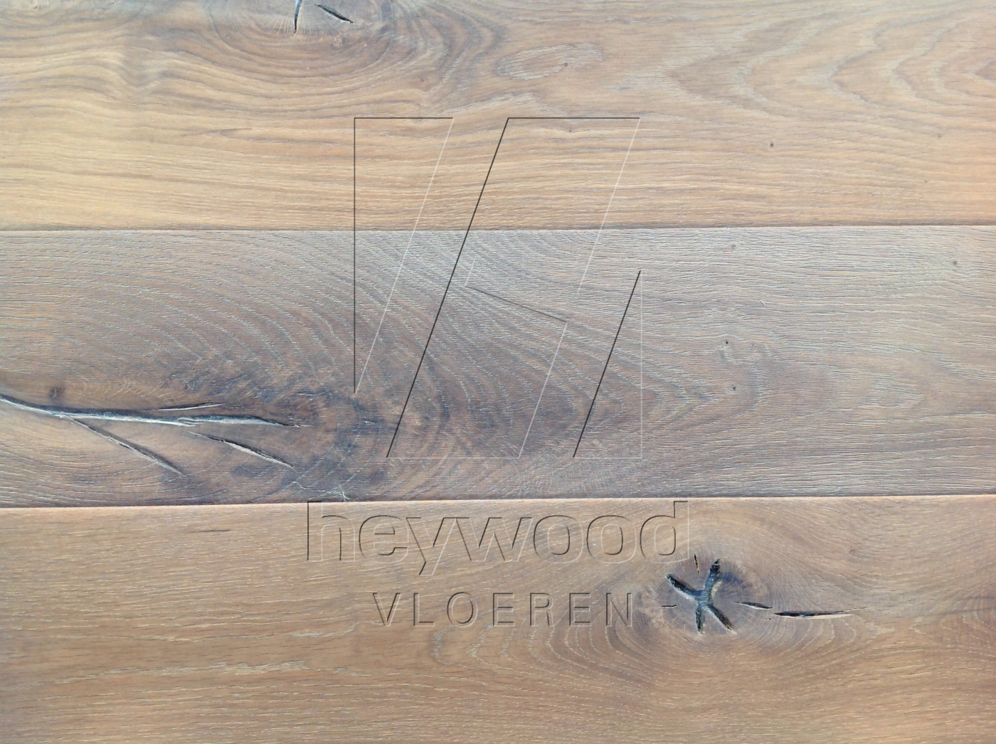 Antique Plank 'Vanoise' in Aged Antique Surface of Aged Hardwood Floors