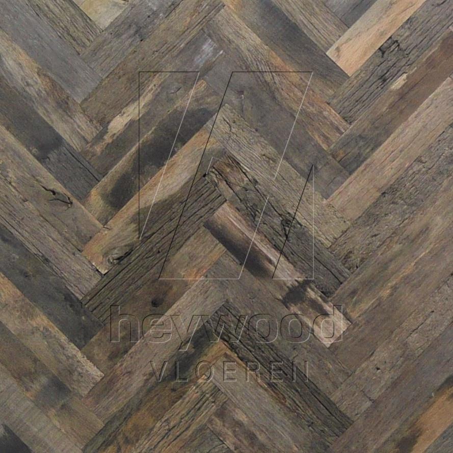 Bordeaux Herringbone 70x350mm (80 years old Reclaimed Oak, outsides) in Pattern & Panels (Outsides / Insides) of Old Reclaimed Wood