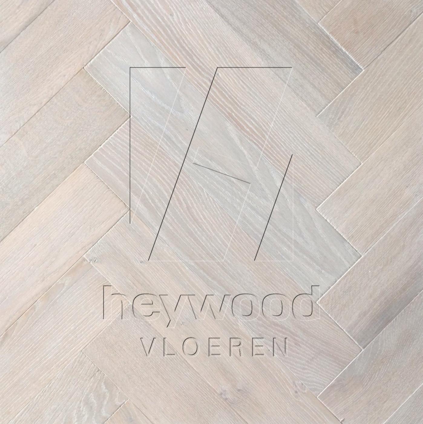 Herringbone Nordic White (Brushed) in Herringbone of Pattern & Panel Floors