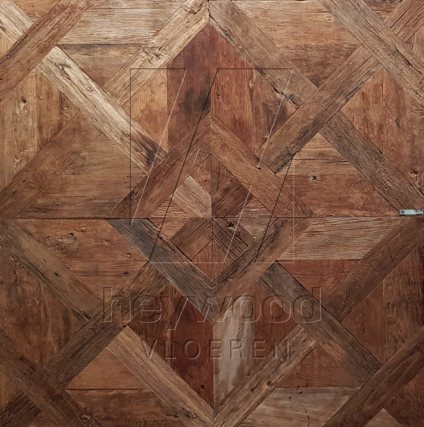 Louvre Panel 'Cotswolds' in Pattern & Panels (Outsides / Insides) of Old Reclaimed Wood