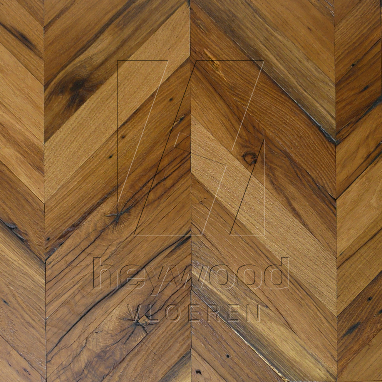 Provence Osmo OIled Reclaimed Oak in Chevron of Pattern & Panel Floors