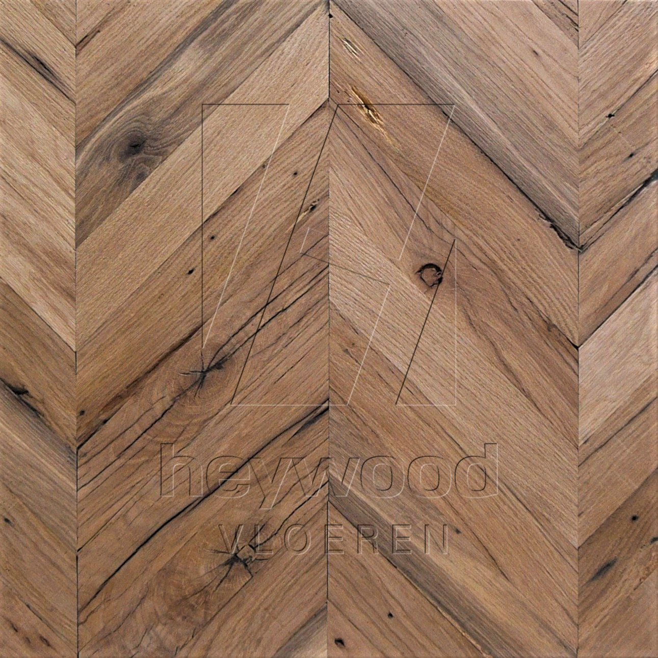 Reclaimed Chevron 'Provence' (unoiled) in Pattern & Panels (Outsides / Insides) of Old Reclaimed Wood