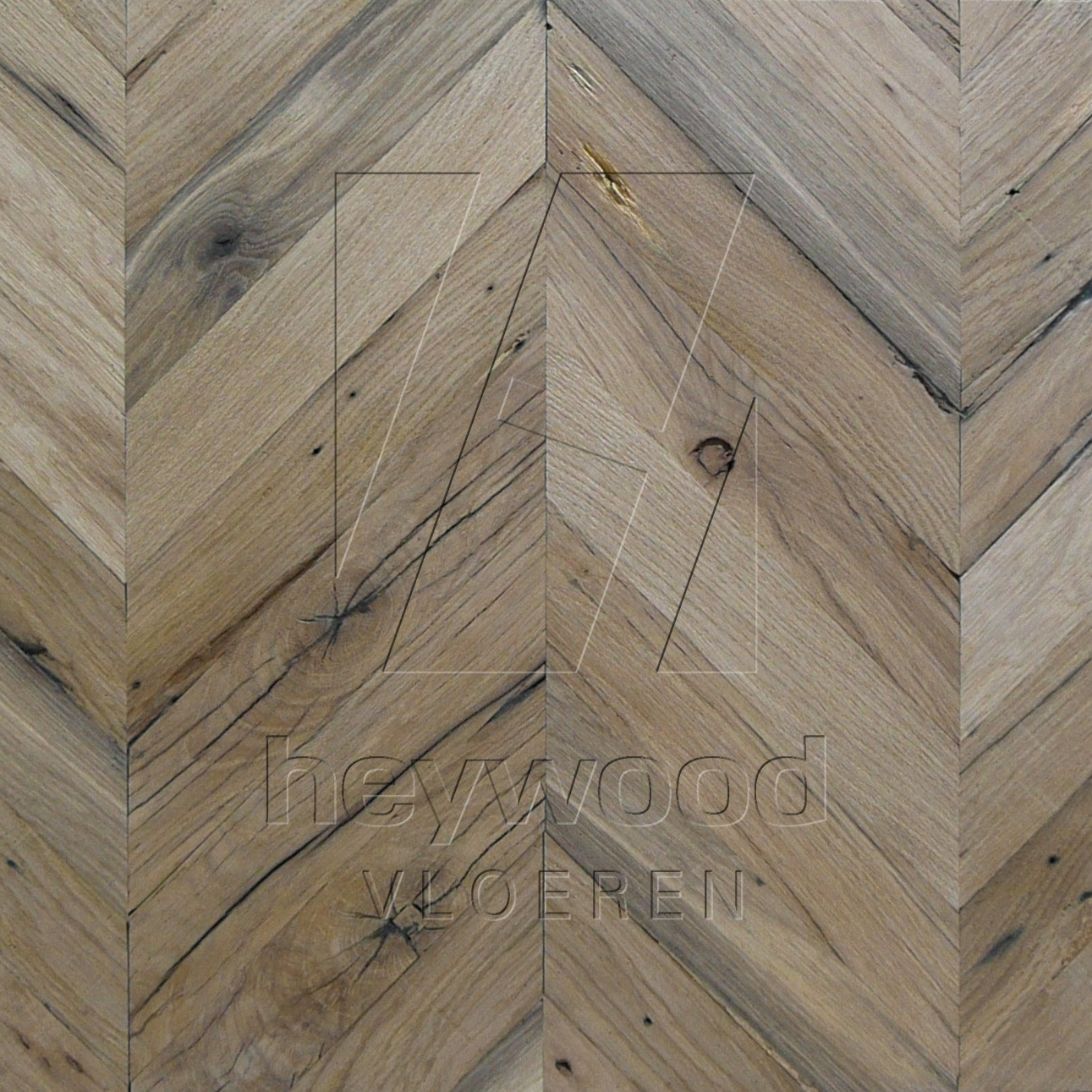 Provence (unoiled) Reclaimed Oak in Chevron of Pattern & Panel Floors