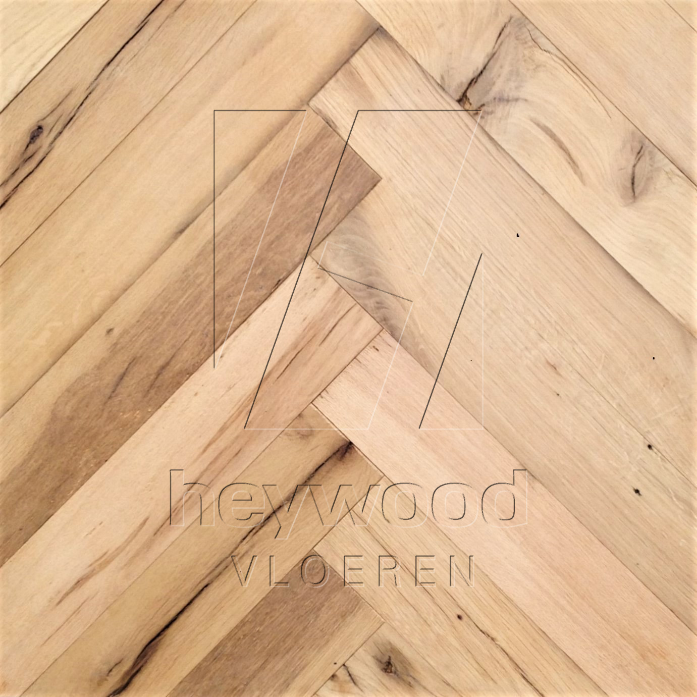 Reclaimed Herringbone 'Stellenbosch' (unoiled) in Pattern & Panels (Outsides / Insides) of Old Reclaimed Wood