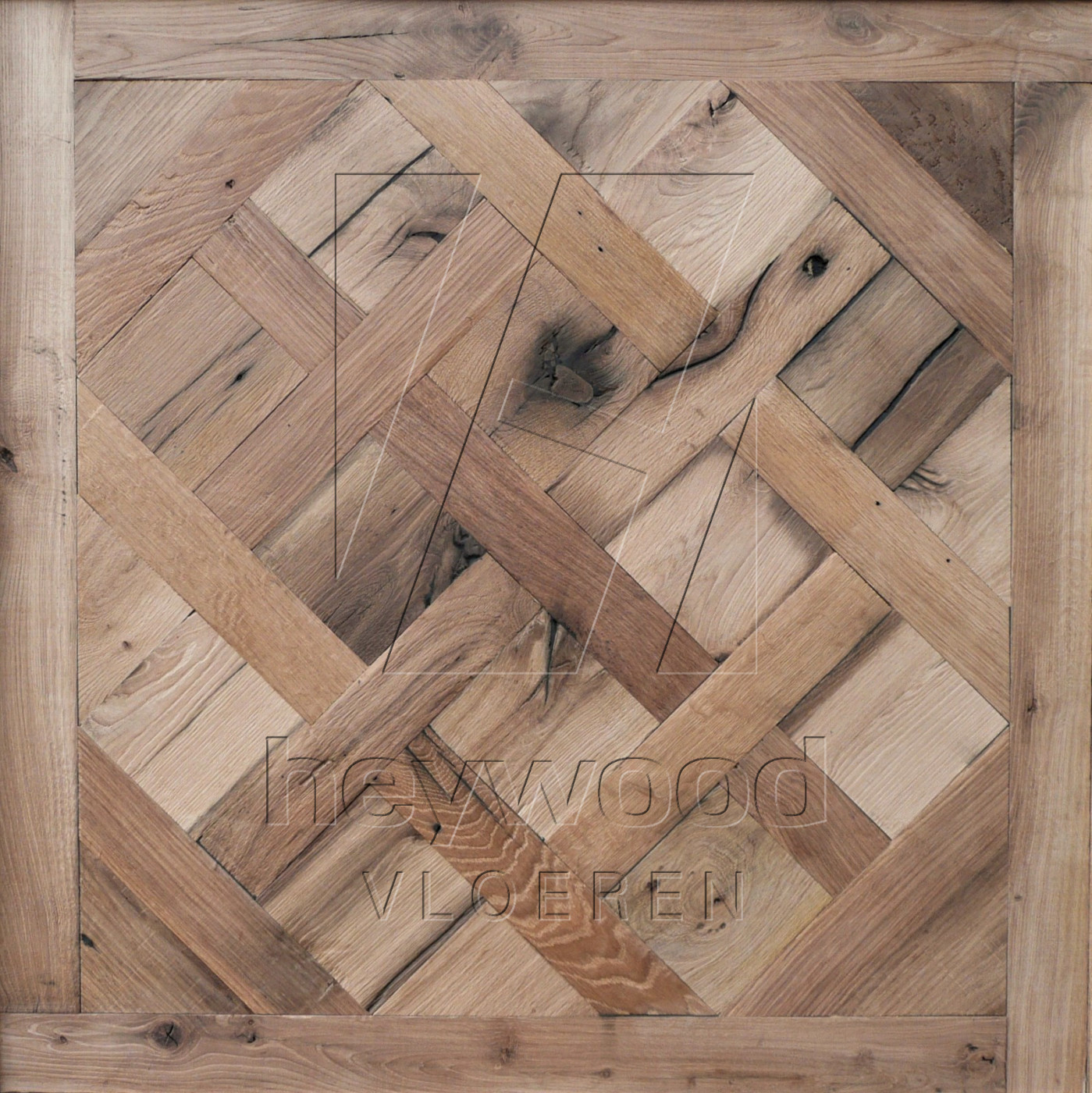 Reclaimed Versailles 'Provence' (unoiled) in Pattern & Panels (Outsides / Insides) of Old Reclaimed Wood