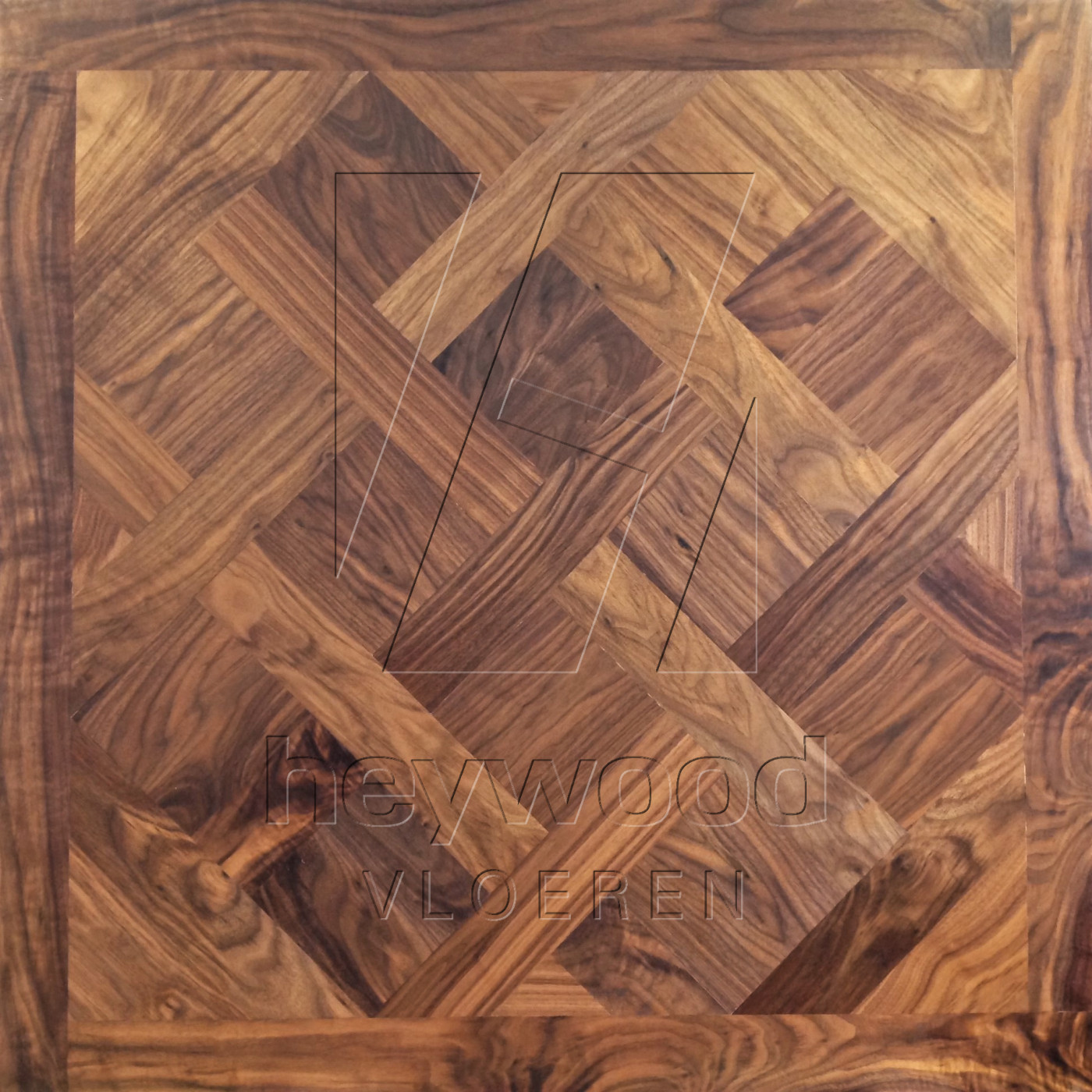 Walnut Versailles, Fas grade, Osmo 3032 oiled in Panels of Pattern & Panel Floors