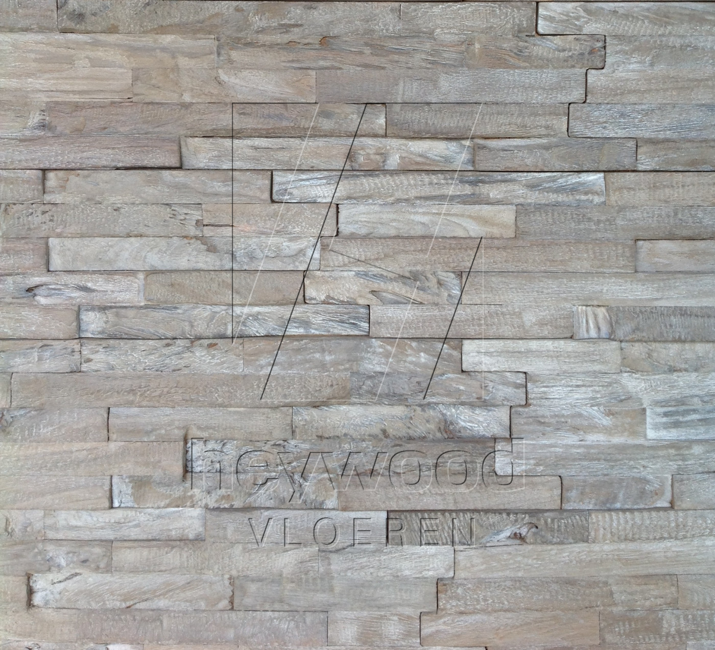 'WEATHERED' 3D Teak Wall Panel in Pattern & Panels (Outsides / Insides) of Old Reclaimed Wood