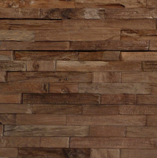NLH 'Charred' 3D Teak Wall Panel