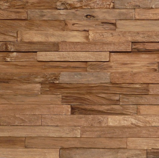 NLH 'Pure' 3D Teak Wall Panel