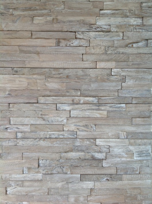 NLH 'Weathered' 3D Teak Wall Panel